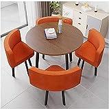 Mesa de comedor de mesa de ocio de cocina Conjunto para cocina o decoración del hotel, Simple mesa y silla Combinación Balcón Sala de estar Mesa de comedor Recepción Habitación Habitación de ocio Simp