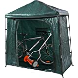 Bravindew Storage Tent Bike Storage shed Waterproof Garden Backyard Storage Buildings Sheds Heavy Duty Space Saving All Season Reusable Bike Shed with Waterproof Cover