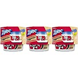 49ers - Ziploc Food Storage Meal Prep Containers, Small, 2 Count, Pack of 3 (6 Total Containers), Twist N Loc- NFL San Francisco 49ers