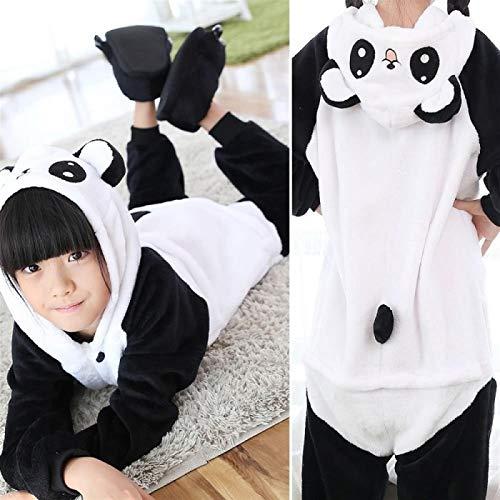 Los Niños Onesie For Niños Niñas Animal Pijamas Oso Panda con Capucha De Los Niños Ropa De Dormir De Franela De Sweet Child Pijamas De Navidad Cosplay Hyococ (Color : Black, Size : 10)