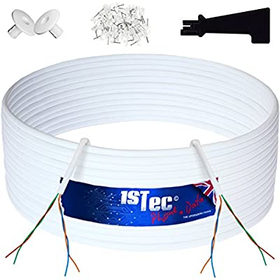 4 Pair Telephone Cable CW1308 White 10m