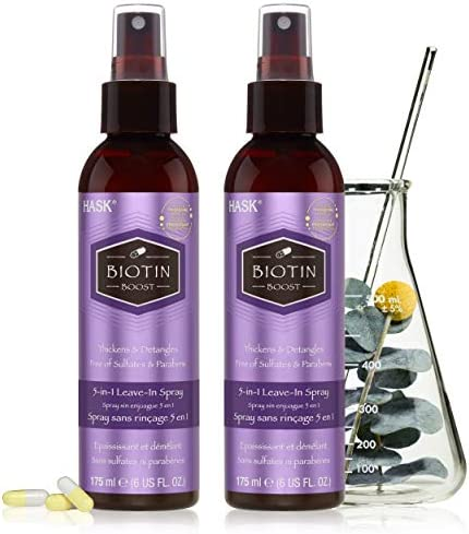 HASK Thickening BIOTIN 5 in 1 Leave In Conditioner Spray for all hair types color safe gluten product image