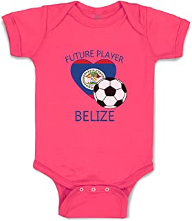 Custom Boy & Girl Baby Bodysuit Future Soccer Player Belize Funny Cotton Clothes