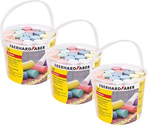 Eberhard Faber Straßenmalkreide, farbig Sortiert (20er Eimer | 3 Eimer)