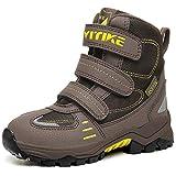 Botas de senderismo Botas de nieve Zapatos de Senderismo para Niños(4 Marrón,34 EU)