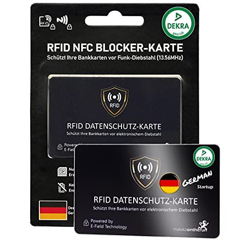 MakakaOnTheRun Nos RFID NFC - Carta di credito (ISO), Nero 1 confezione Rfid Blocker (per 1 portafoglio) (Nero) - BCBlack1