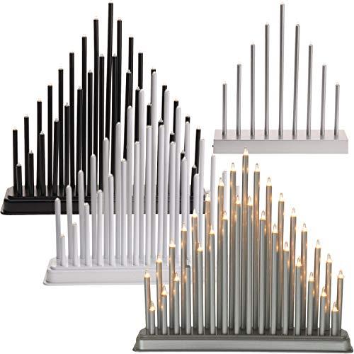 LS-LebenStil Schwibbogen 33 Lampen Lichterbogen Leuchter Fensterleuchter Pyramide