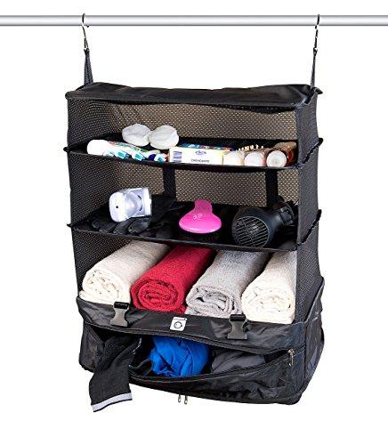 Xcase Hängeschrank: XXL-Koffer-Organizer, Packwürfel zum Aufhängen, 45 x 64 x 30 cm (Koffer-Organizer-Tasche)