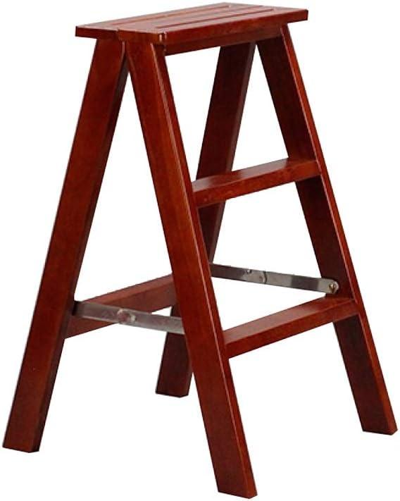 BINGFANG-W Ladder 4-Stufen-Holzleiter Stuhl Hocker Multifunktionale Folding Regalleiter Familie Bibliotheksleiter 150kg Kapazit/ät Wei/ß Tritthocker Teleskopisch