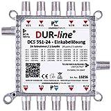 DUR-line DCS 551-24 - Soluzione economica per 24 partecipanti per Quattro LNB - 1 x 24 SCR/DCSS User Bands - Possibilità di cascata [Digital, HDTV, FullHD, 4K, UHD]