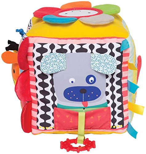 Manhattan Toy 700125 Jouet pour bébé Little Explorer Activity Cube, Multicolore