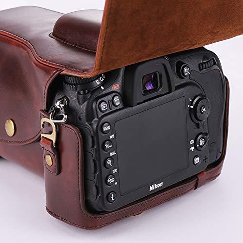 LEEEC Funda de cámara para cámara SLR para Nikon D3100 D3200 d3300, D5100 d5200 d5300, D5500, D7000 D7100 D7200, D750, D800 D810,Coffee,D7000 D7100 7200