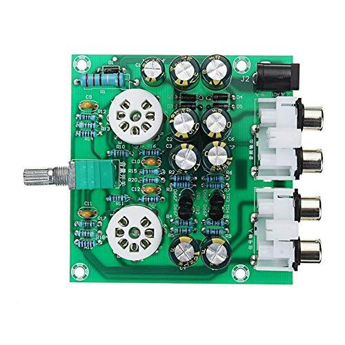 CLJ-LJ Puede ajustar el volumen de salida de CA 12V 1A 6J1 preamplificador de válvulas preamplificador módulo de pre-amplificador de auriculares estéreo bajo bilis Buffer HIFI X10-D del punto Steuermo