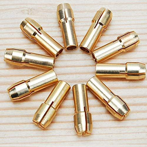 10PCS Foret Perceuse Collet Mandrin Adaptateur Pince Dremel 0.5-3.2mm R20