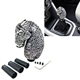 Arenbel 5' Weighted Manual Racing Gear Shift Knob Replacement Car Speed Shifter Stick Lever Handle Fit Most Manual Auto Vehicles