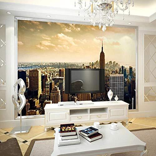 Wallpaper-CJW. Foto 3D Personalizado Autoadhesivo Papel Tapiz Sala de Estar sofá Fondo Fondo Mural Ciudad Edificio Papel de Pared decoración doméstico impermeable-250 * 175cm