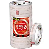 3M スコッチ 超透明テープS 10巻パック 18mm×35m 大巻 BK-18N