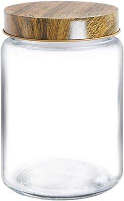 Treo by Milton Borosilicate Round Storage Jar, 1000 ml, Transparent