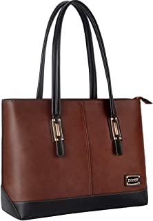 Laptop Bag for Women,Work Tote Laptop Bag Professional with Comfortable Long Strap Up to 15.6 Inch