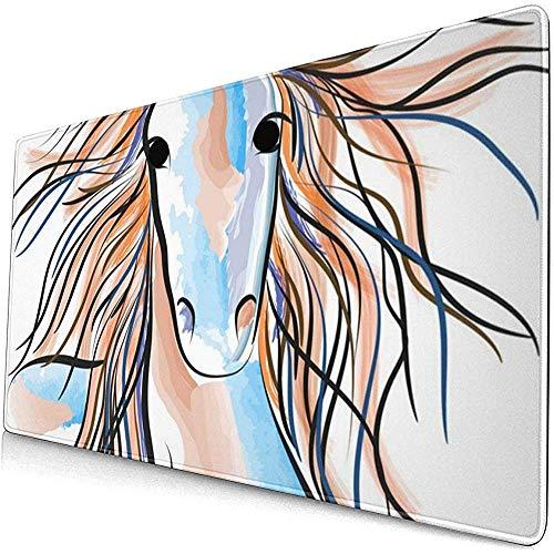 Mousepads paard getekend grote bureau Cover muis Mat Gaming Mat muismat anti-slip muismat toetsenbord 40X75Cm Rubber Computer