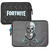 Fortnite Tablet Tasche für Kinder und Jugendliche mit Skull Trooper Motiv - Hülle Kompatible mit Elektronischen Geräte bis 11 Zoll (ca. 28 cm) Universal Einsetzbare Sleeve