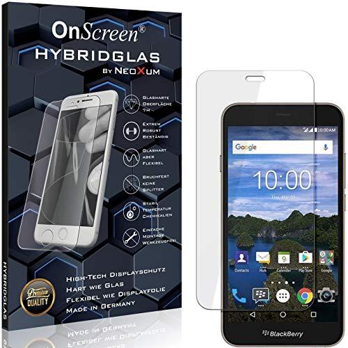 OnScreen Schutzfolie Panzerglas kompatibel mit BlackBerry Aurora Panzer-Glas-Folie = biegsames HYBRIDGLAS, Bildschirmschutzfolie, splitterfrei, MATT, Anti-Reflex - entspiegelnd