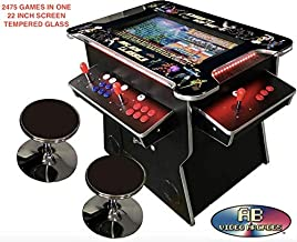 ABVIDEO INC. Exclusive 2475 Games Huge 22 inch Screen SI Graphics Not 19 inches Pair of Stools 4 Player Cocktail Arcade Machine 2475 Classic Games 150 pounds Commercial Grade
