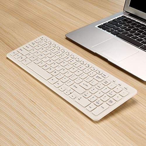 weichuang Keyboard Ultra Thin Portable Standard 96-Key Wireless Bluetooth Keyboard for Ipad Iphone MAC PC (White Black Blue Pink) keyboard (Color : White)