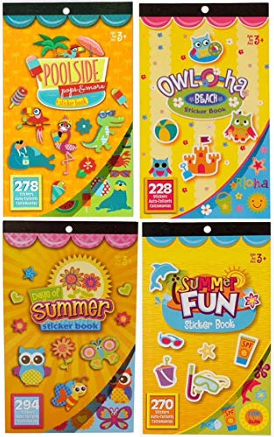 Summer Fun, Beach, and Poolside Sticker Books- Over 1,000 Stickers