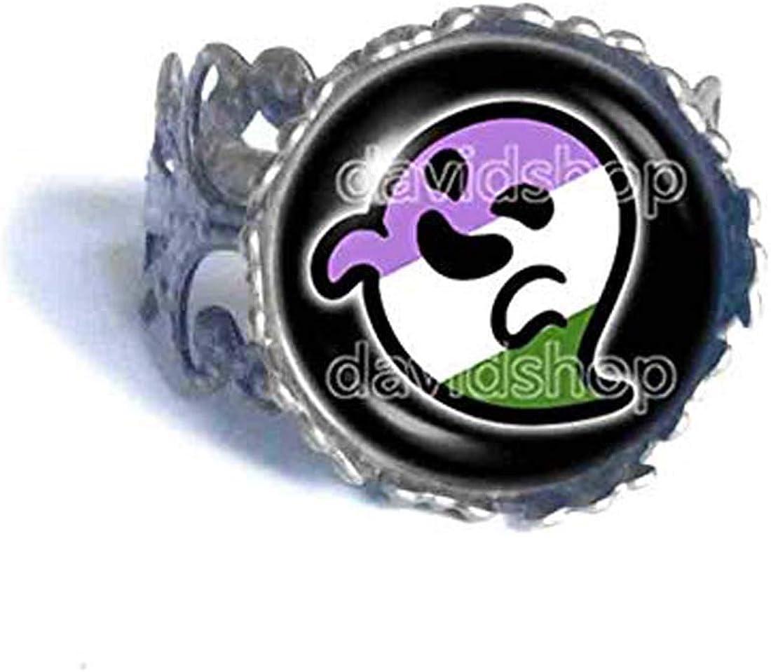Genderqueer Pride Flag Gaysper Ring Cosplay LGBT LGBTQ Non Binary Cute Fashion Jewelry