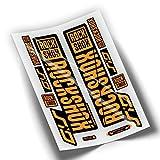 Pegatinas Horquilla ROCKSHOX SID 2018 Naranja Fluor WP65