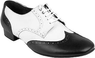 Men's Ballroom Salsa Standard & Smooth Black & White Dance Shoes Comfortable - Very Fine (Bundle of 4)