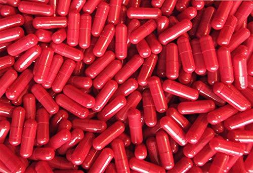 DR T&T 1000 tamaño 00 UE productos cápsula cápsulas de gelatina vacías rojas