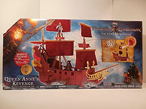 Pirates of the Caribbean 4 Queen Anne's Revenge Ship with schwarzbeard Figure