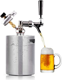 Lynx Cabin 2L ビールサーバー ステンレス製 ビール樽 ビールケグ ミニケグ ビール二次発酵容器 (3/8UNF(米式))
