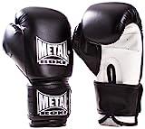 METAL BOXE MB200 - Guantes de Boxeo para Entrenamiento, Color Negro, Talla 12 oz