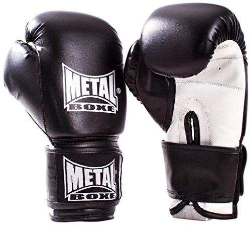 Metal Boxe MB200 Gants de boxe, Mixte Enfant, Noir 12 oz