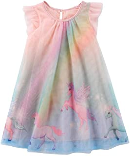 TWOPAGES Girls Unicorn Dress Costume Pageant Princess Party Dresses(Multicolor, 12Months-5 Years)