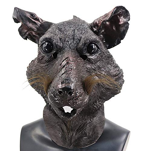 Rat Head Mask Latex Animal Mouse Monster Mask Halloween Costume Cosplay Party Fancy Dress Mask