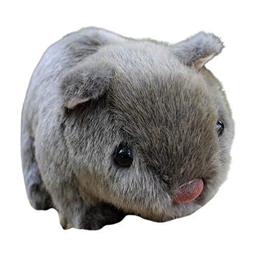 TOYANDONA Peluche de conejillo de Indias, 7 pulgadas, suave y lindo peluche del conejillo de Indias, color gris oscuro, peluche, regalo para niños