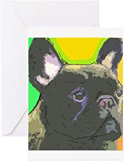 CafePress Brindle French Bulldog Greeting Card (10-pack), Note Card with Blank Inside, Birthday Card Matte