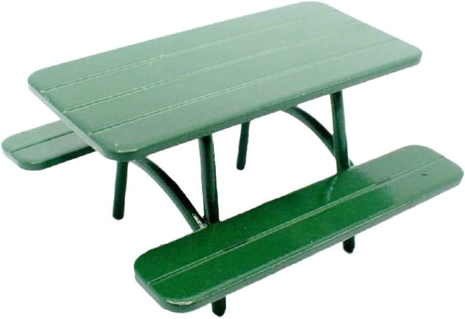 Melody Jane Dollhouse Award Green Picnic Large special price Half Garden 1:24 Table Bench