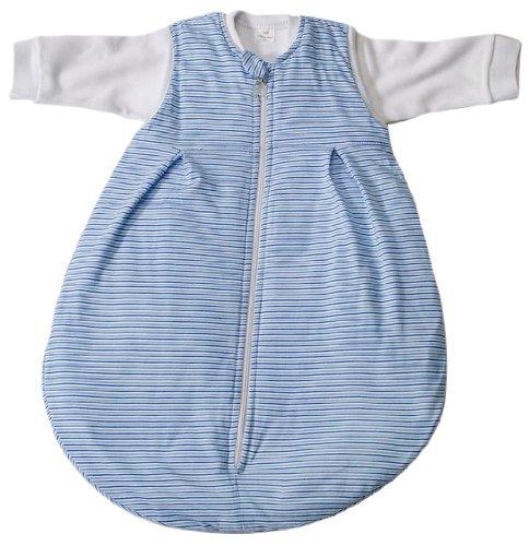 Easy Baby 457-05 Schlafsack 2 in 1 62/68 cm Streifen, blau