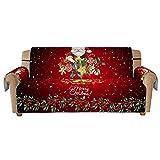 Fodera per Divano di Natale per 1/2/3 posti, Stampato in 3D Modello Babbo Natale Copridivano Protettiva Copridivano Antipolvere Lavabile in Lavatrice