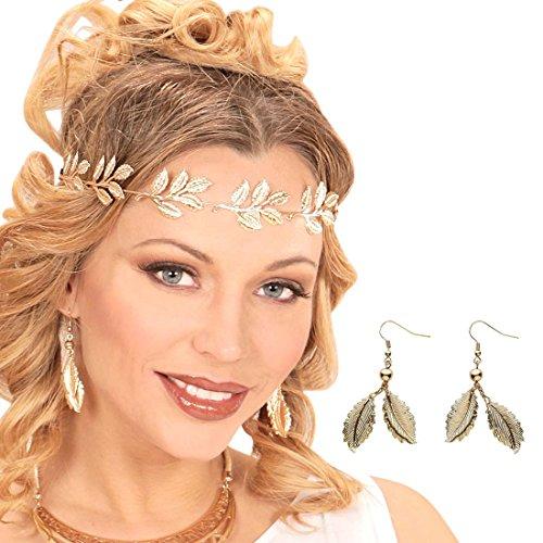 Amakando Joya con Forma de Hoja Pendientes de Hojas de Elfo Dorado Clips Oreja Diosa Afrodita Joyas para Disfraz de Mujer Colgante Griega para Orejas Bisutería Princesa