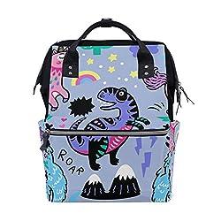 4. TropicalLife Unicorn and Dinosaur Diaper Bag