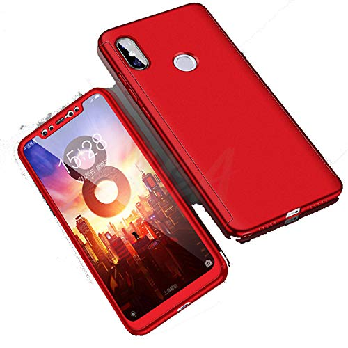 360 Full Cover Phone Case for Mi 5 5S Plus Mi5x 6X Mi 8 SE Shockproof Cover Pocophone F1 Case with Glass Red for Xiaomi Mi5s Plus