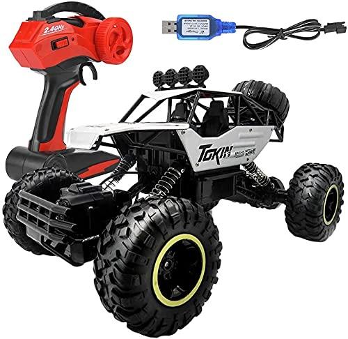 ksovvoo Coche de Control Remoto, Control Remoto para niños Coche 1/12 4WD 4x4 conduciendo Coche 2.4GHz Camión Fuera de Carretera con baterías Recargables Regalo para 6-12 años niños