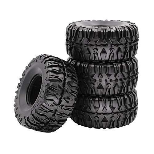 HomeDecTime 4X RC Car 2.2 '' Juego de Neumáticos de Goma para 1:10 SCX10 TRX6 D90 RC