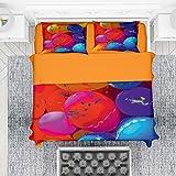 NuvolaNera Set completo lenzuola con stampa fotografica altissima qualità – 100% Cotone – 1 Piazza...